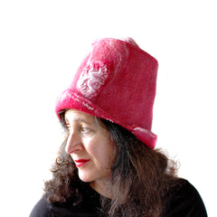 Valentine's Inspired Berry Red Felted Top Hat