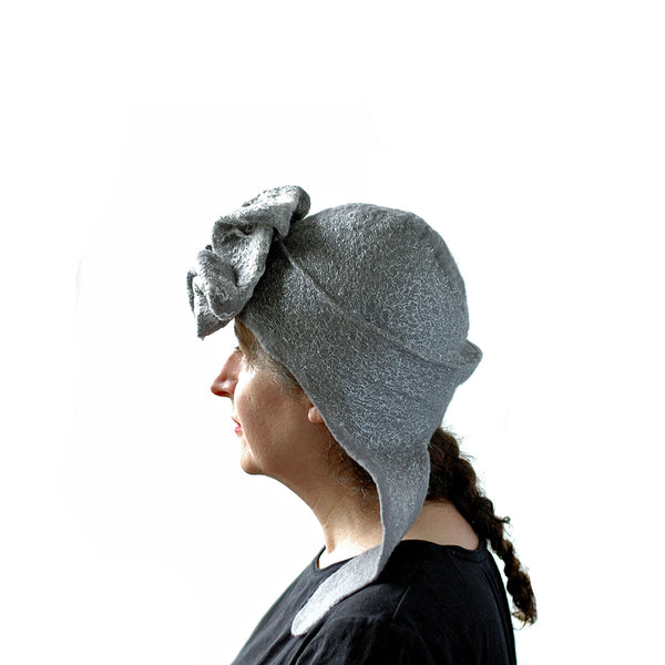 Silver Aviator Hat with Earflaps - side view 3