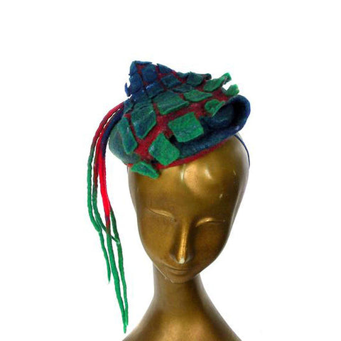 Tartan Fascinator with Dreads