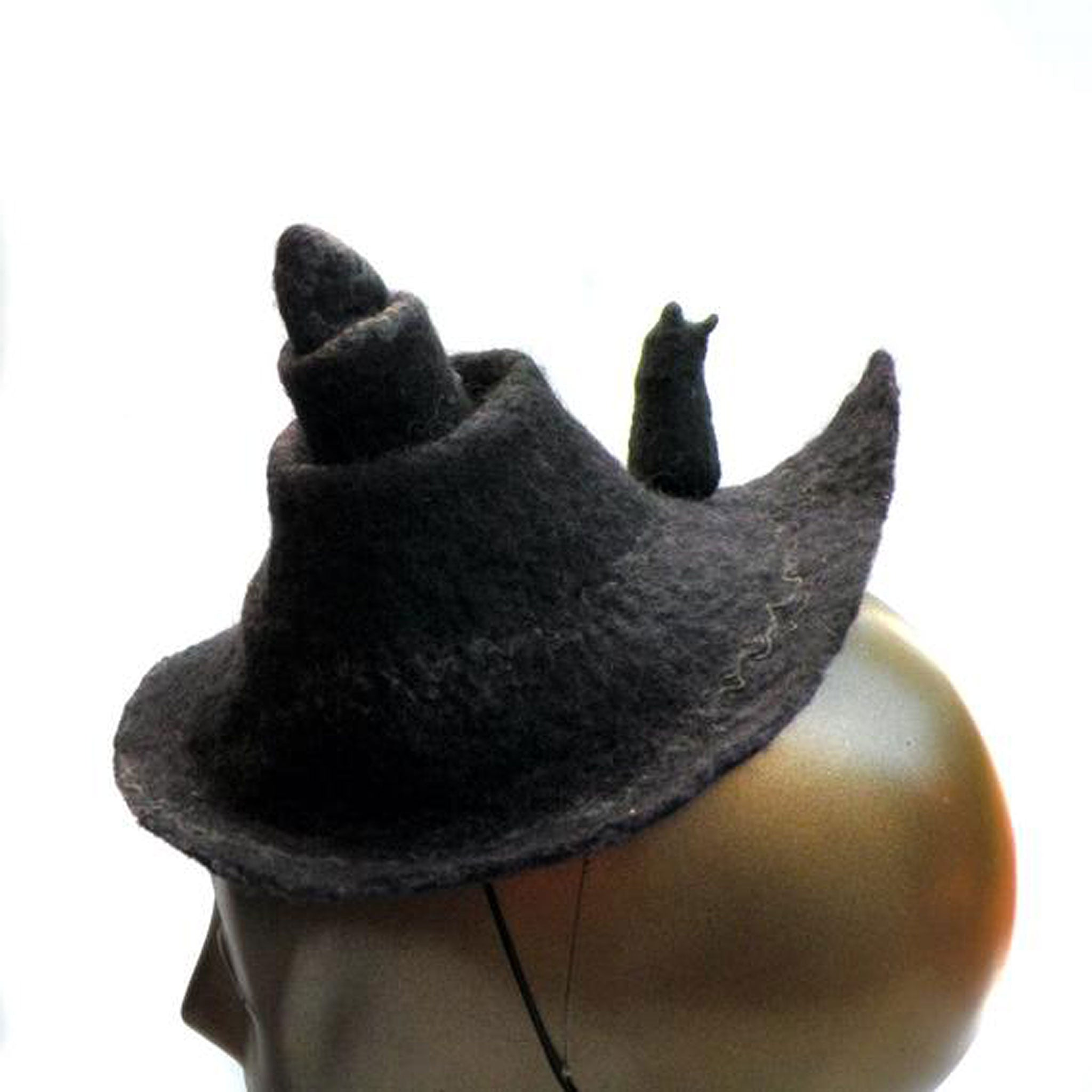 Tiny Witch Hat with Black Cat