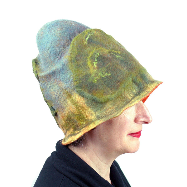Oak Tree Inspired Landscape Hat - side view