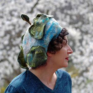 Zany Tree Inspired Wool Beret - outdoors
