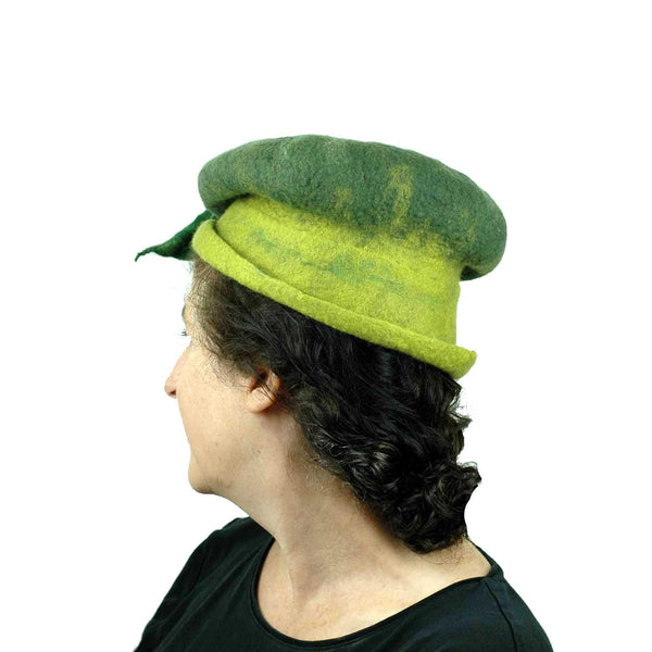 Whimsical Leafy Green Cap Small Size