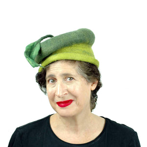 Whimsical Leafy Green Cap Small Size - front view
