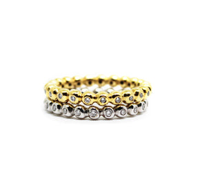 Magic Bubble ring in gold - Mitos Jewellery
