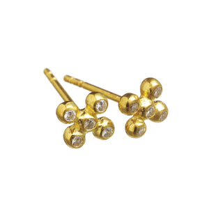 Bubble Cross studs - Mitos Jewellery