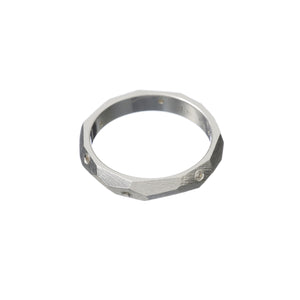 Faceted Band Ring - Mitos Jewellery
