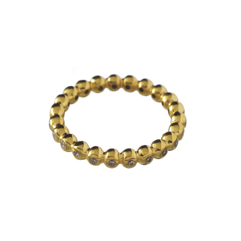 Magic Bubble ring in gold
