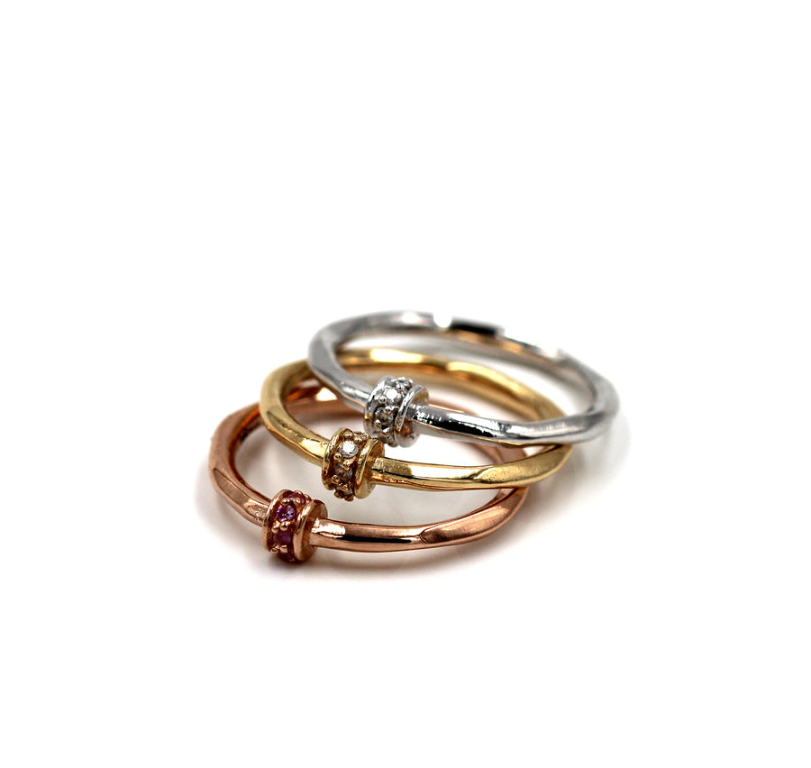 Ball ring in Gold - Mitos Jewellery