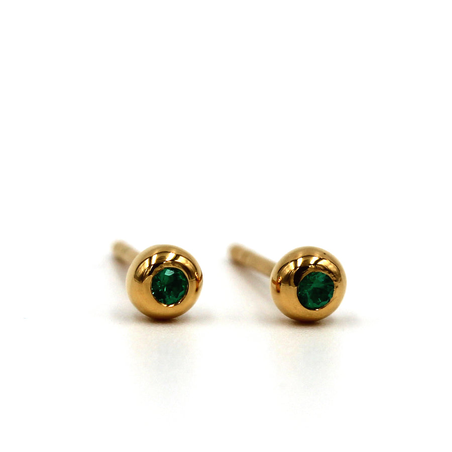Petit ball studs - Mitos Jewellery