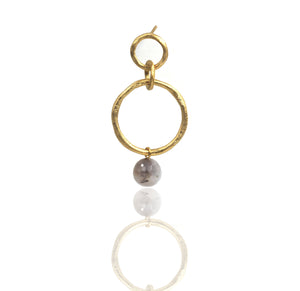 Halo Earring with gemstones - Mitos Jewellery