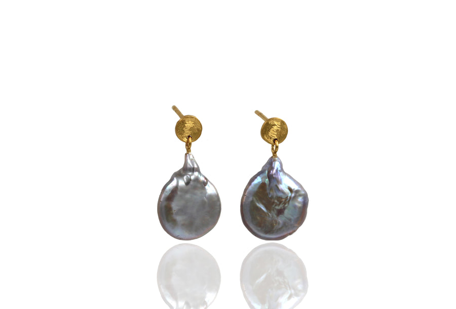 Keshi Pearl Earrings - Mitos Jewellery