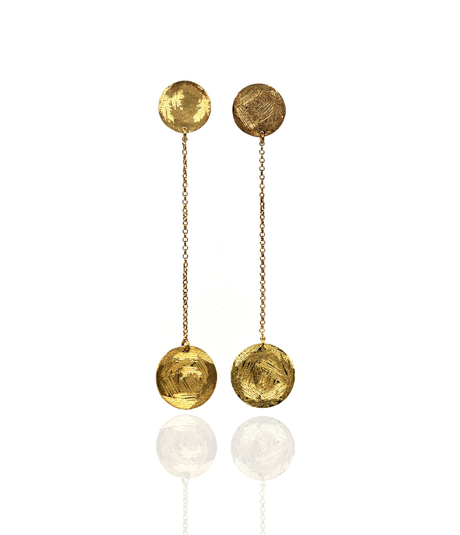 Maya Chain earrings - Mitos Jewellery