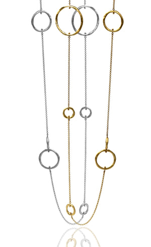 Solar circle necklace
