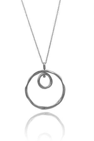 Solar Pendant double circle - Mitos Jewellery