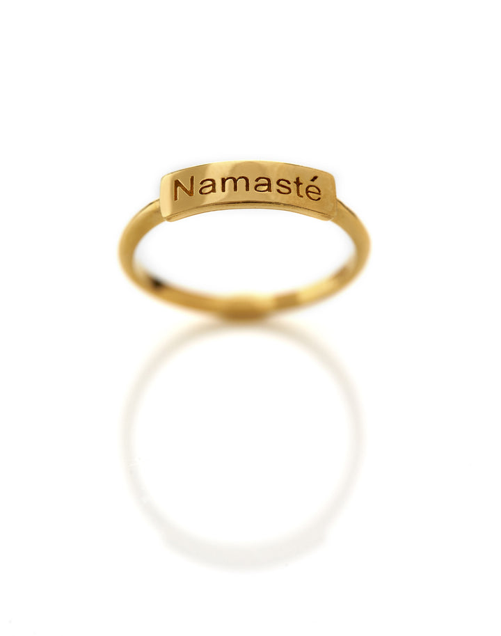 Small NAMASTÉ Ring - Mitos Jewellery