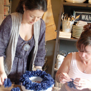paper wreath workshop