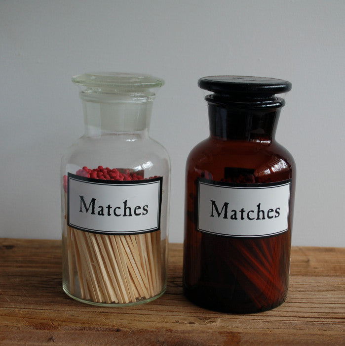 Matches in Glass Bottle