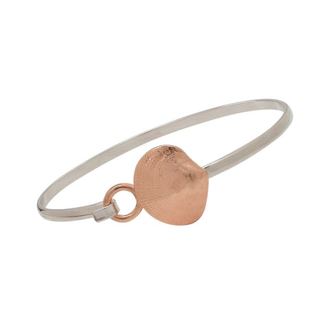 Quahog Rose Gold and Silver Two Tone Cuff Bracelet