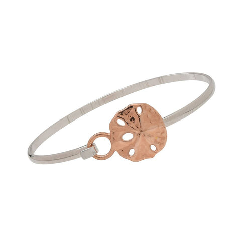 Sandollar Cuff Bracelet  Rose Gold and Silver Two Tone