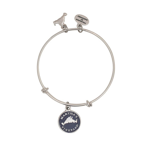 Martha's Vineyard Longitude and Lattitude Adjustable Bracelet