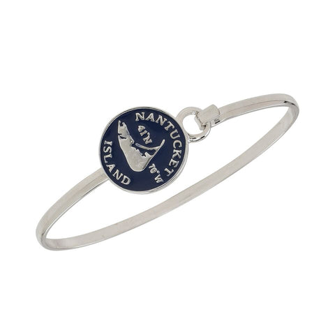Nantucket Longitude and Lattitude Cuff Bracelet