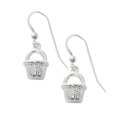Wholesale fashion nantucket basket earrings pewter with sterling siver and 24 karat gold finish USA made
