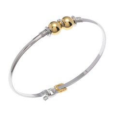 Cape Cod Two Ball Bracelet  Two Tone