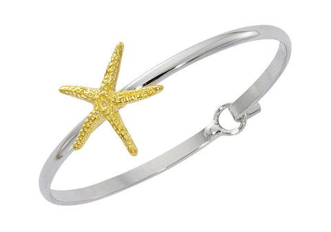 Starfish Two Tone Cuff Bracelet CB415