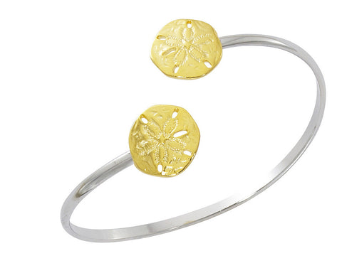 Sand Dollar Two Tone Twist Bracelet CB423T