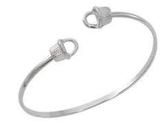 Wholesale fashion nantucket twist bracelet pewter with sterling silver finish USA made