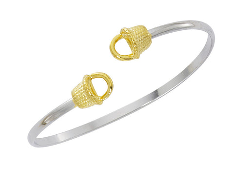 Nantucket Basket Two Tone Twist Bracelet