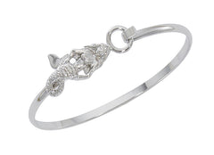 Wholesale fashion mermaid cuff bracelet pewter with sterling silver finish USA made