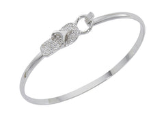 wholesale flip flop silver cuff bracelet. Pewter with sterling silver finish. USA made.