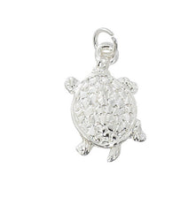 Wholesale fashion turtle charm pewter with sterling silver or 24 karat gold finish USA made