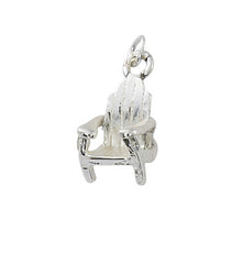 Pewter with silver or gold finish Adirondack chair charm. Wholesale USA made