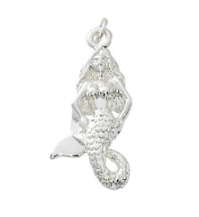 Wholesale fashion mermaid charm pewter with sterling silver or 24 karat gold finish USA made