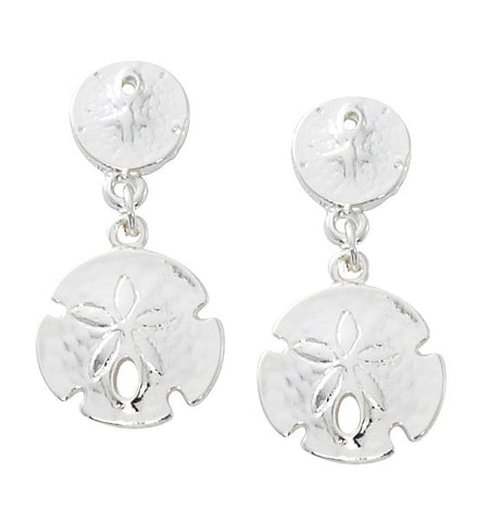 Double Sand Dollar Dangle Earrings E134