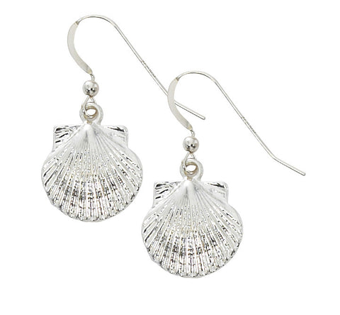 Scallop Shell Drop Earrings E224