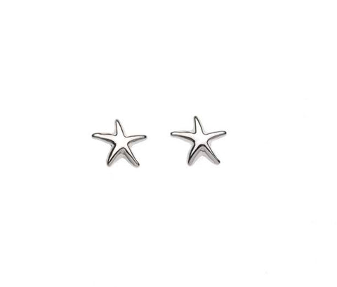 Smooth Starfish Stud Earring