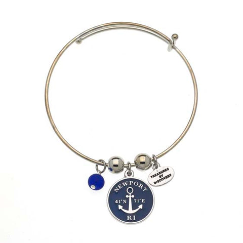 Newport Longitude and Lattitude Expandable Bracelet