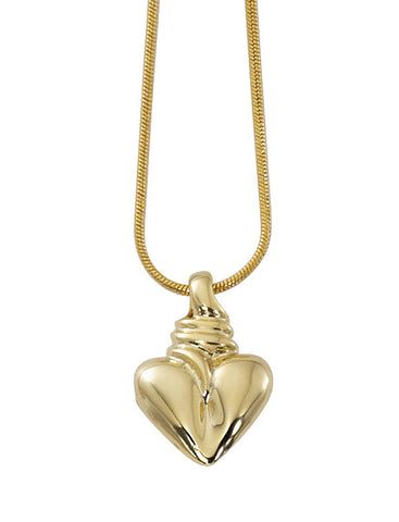 Solid Heart Necklace NK566