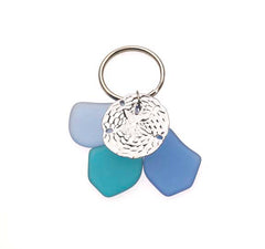 Sea Glass Sand Dollar Key Chains