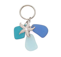 Sea Glass Starfish Key Chains
