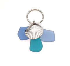 Sea Glass Scallop Shell Key Chains