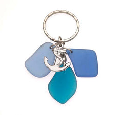Sea Glass Anchor Key Chains