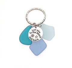 Sea Glass Luv You To The Beach and Back Key Chains