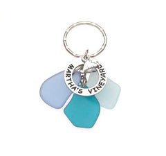 Sea Glass Martha's Vineyard Key Chains