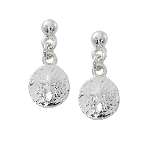 Ball Top Sand Dollar Drop Earrings E114