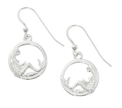 Wholesale fashion mermaid in circle pewter with sterling silver or 24 karat gold finish USA made